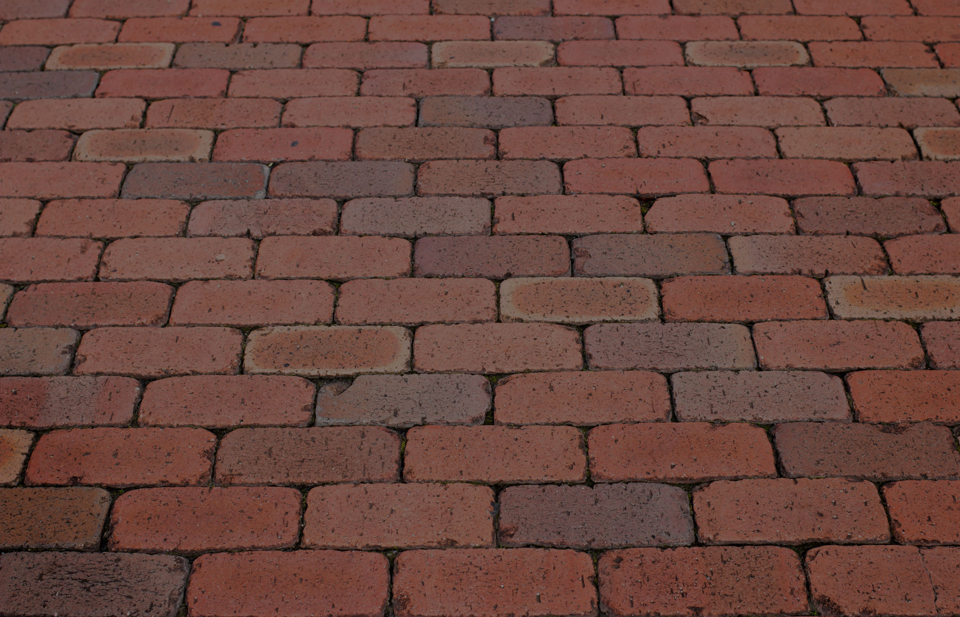 Brick footpath background. - Image